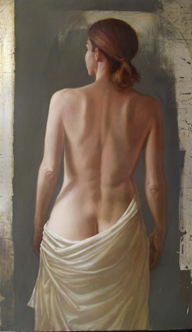 Figure and White Drapery #1