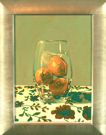 Lemons and Floral Cloth