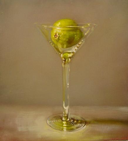 Lime Martini on Cloth