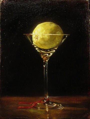 Lemon Martini and Ribbon