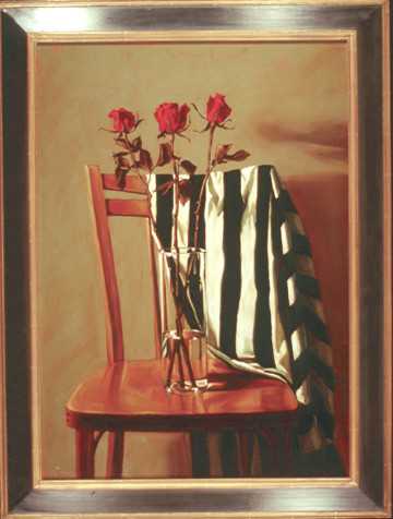 Chair and Red Roses