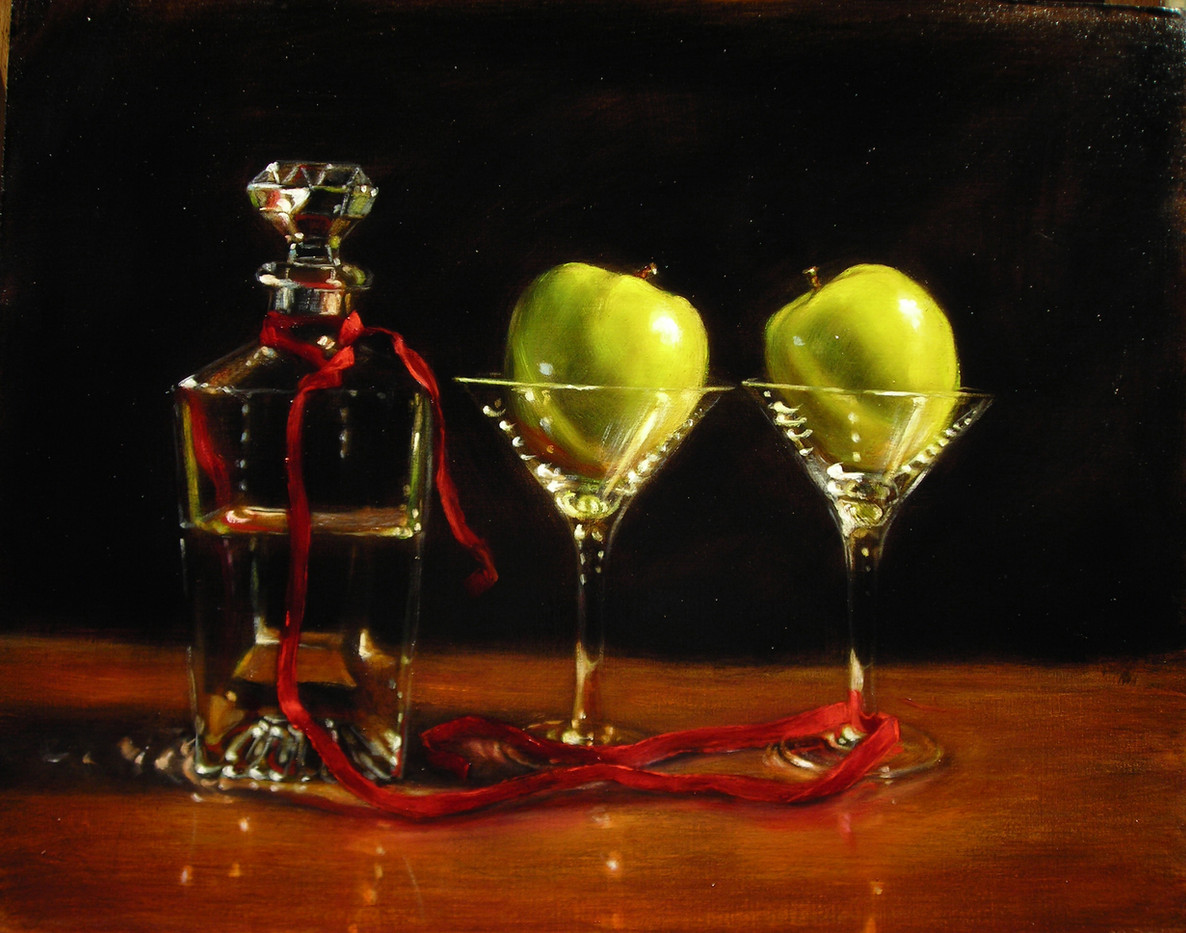 Apple Martini with Decanter