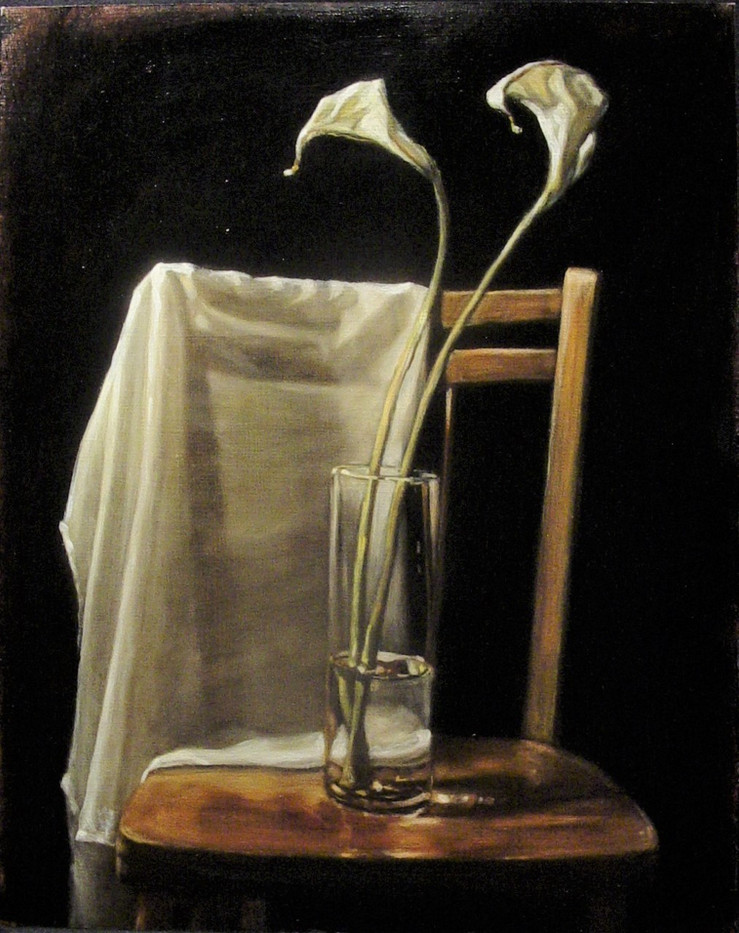 Calla Lilies and Chair