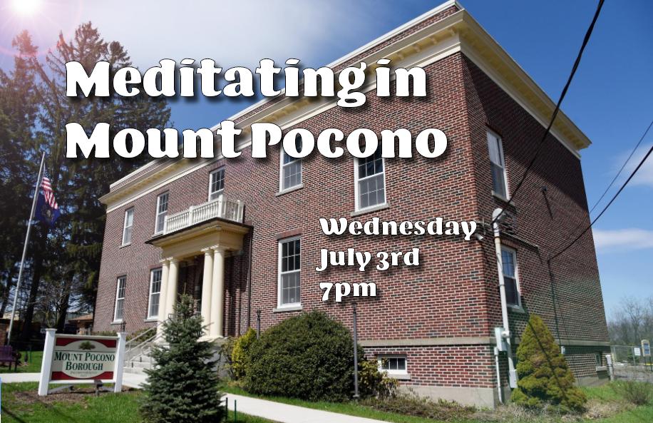 Meditating in Mount Pocono