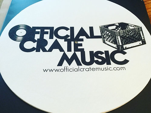 Official Crate Music logo Felt Turntable Slipmats! (pair)