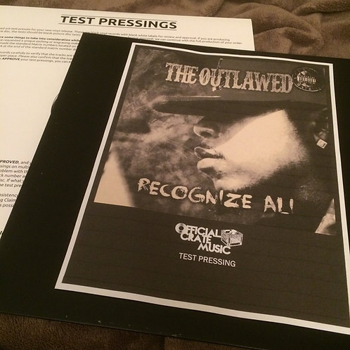 """Recognize Ali - """"The Outlawed"""" lp TEST PRESSING PRE-ORDER!"""