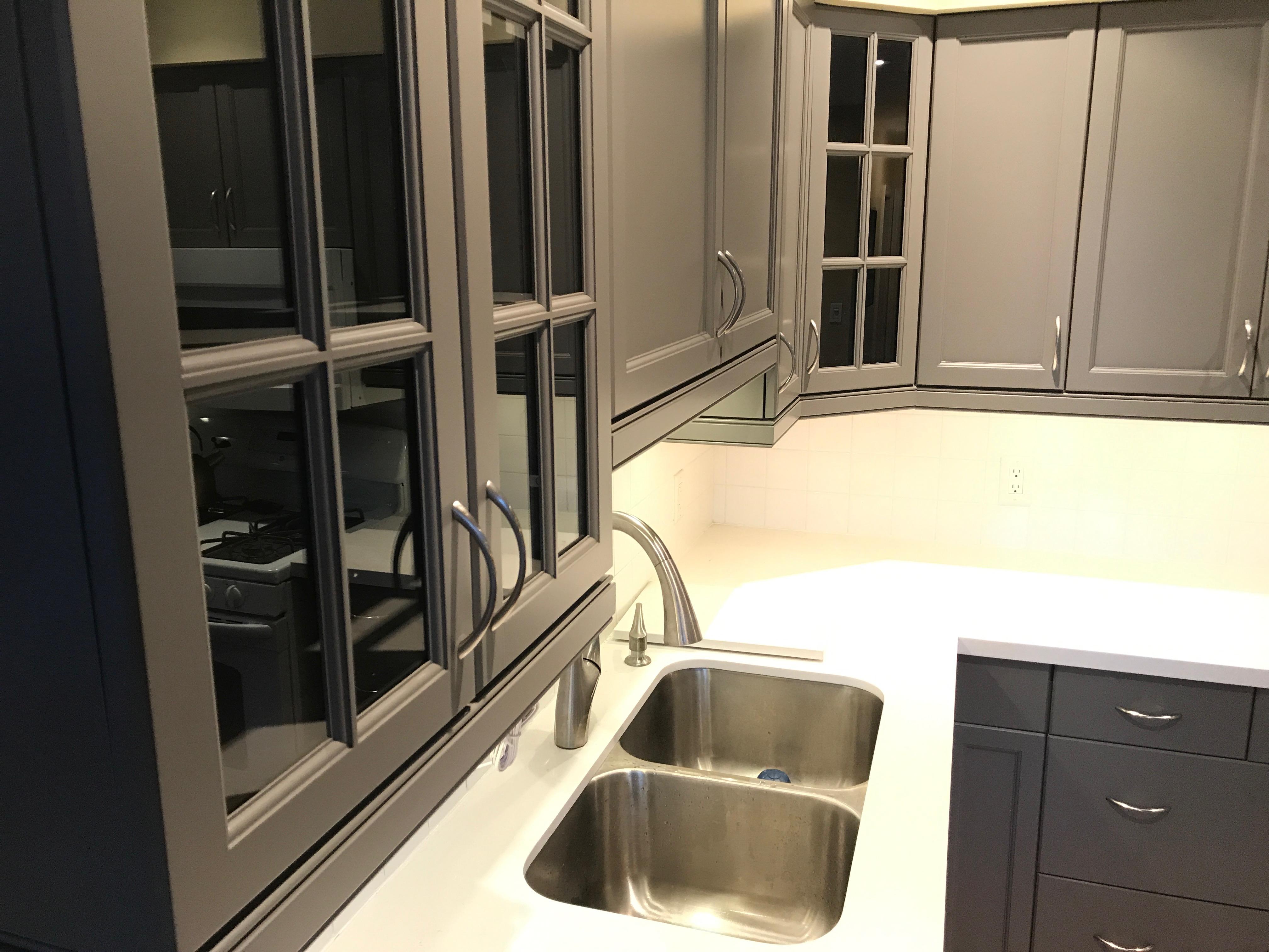 Dark Grey Cabinets