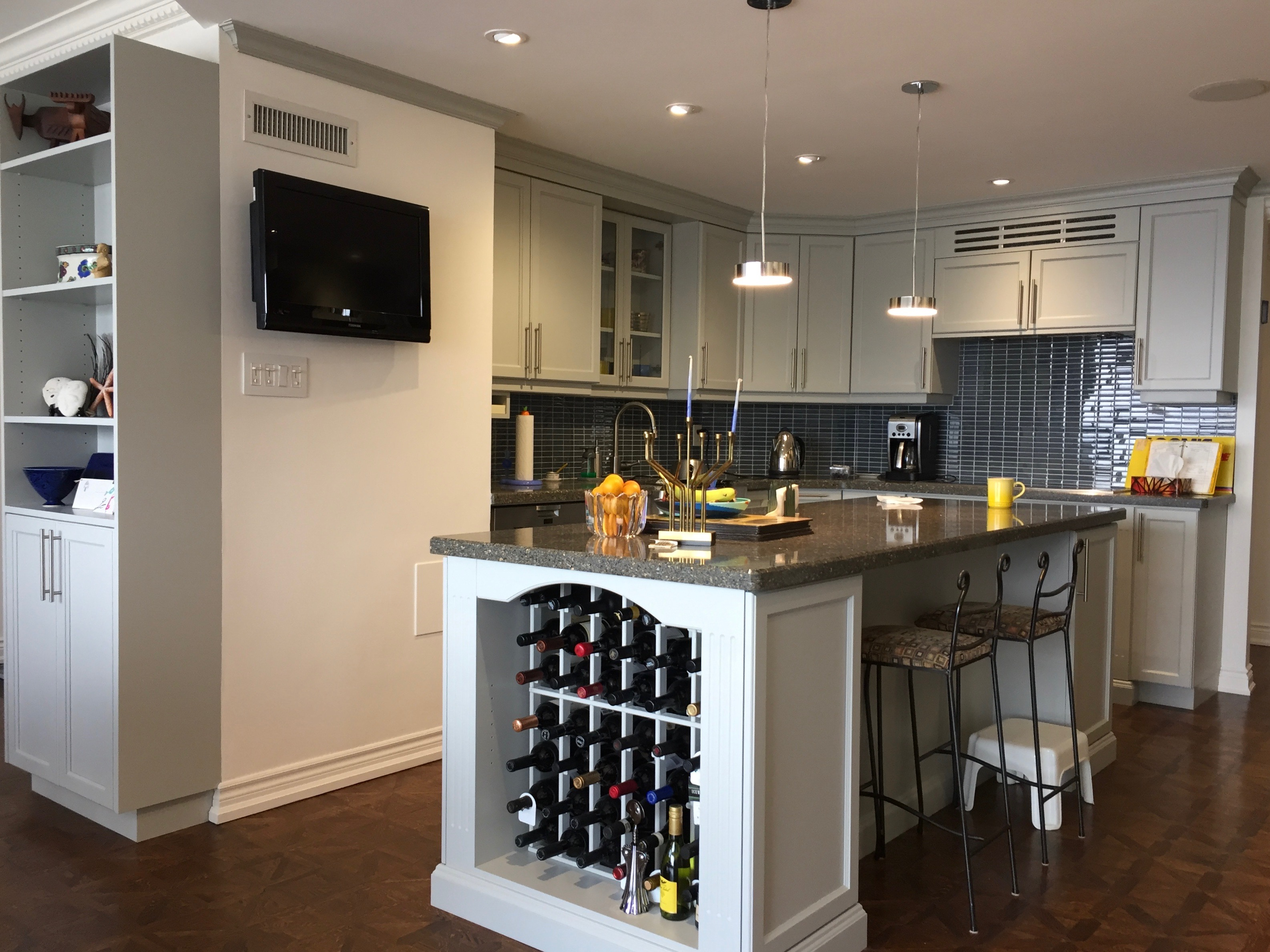 Condo Cabinets in Stonington Grey