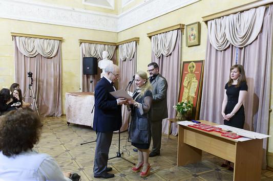 Церемония награждения лауреатов 5 сезона конкурса АЕА в колонном зале Международного Фонда славянской культуры и письменности.