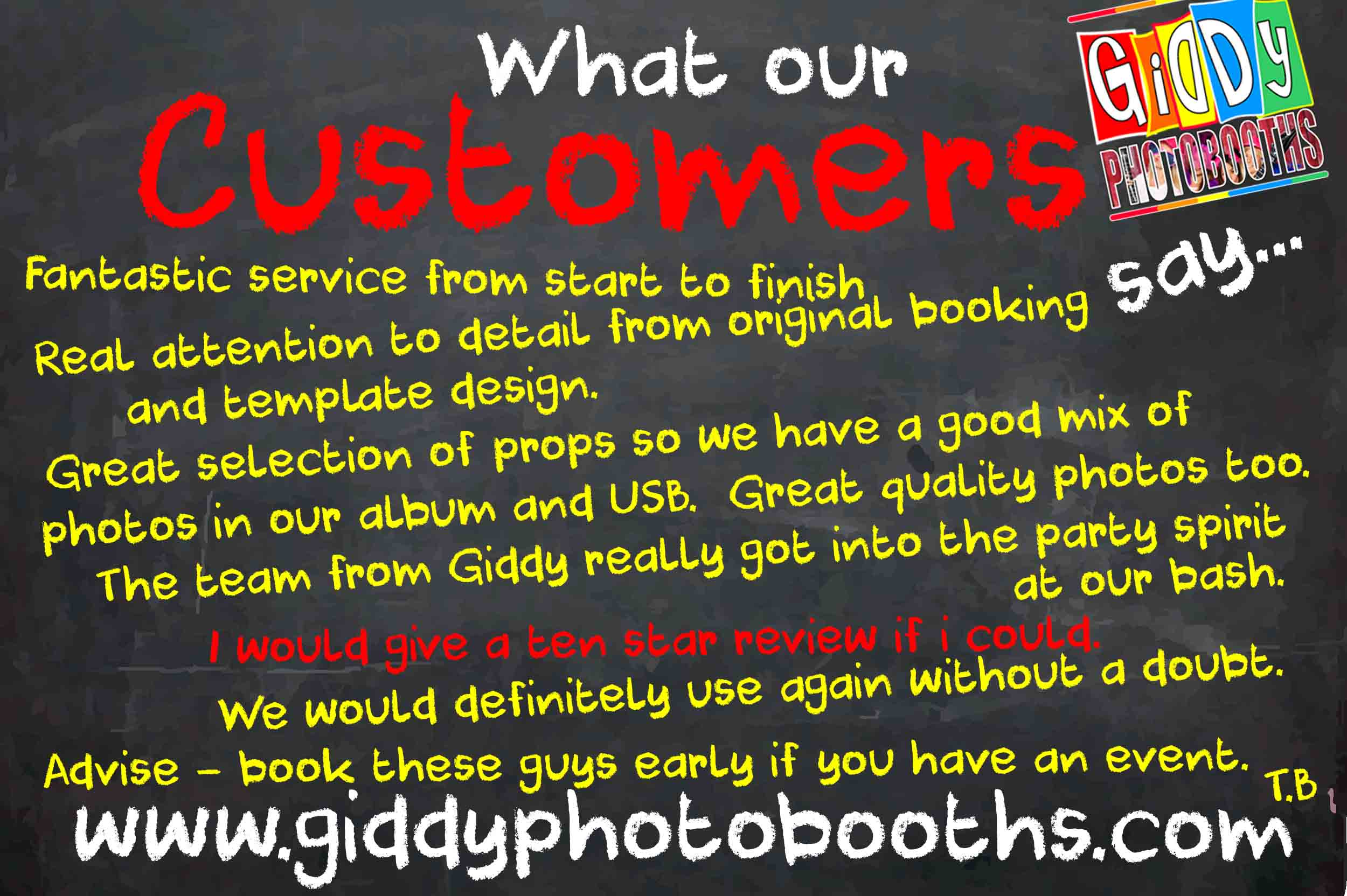 What our Customers say..