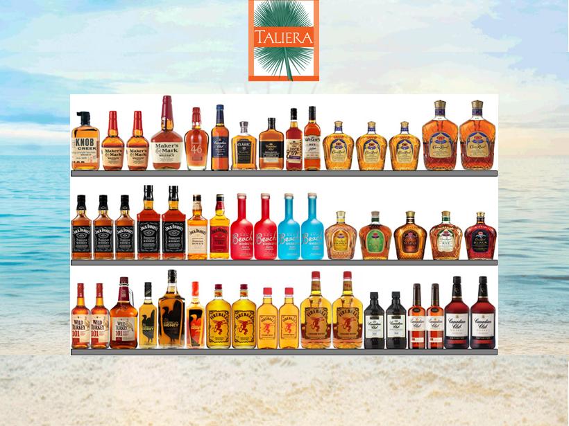 Flavored Whiskey Shelf Set