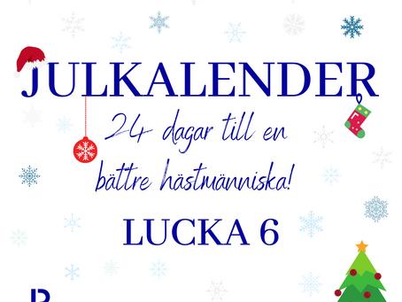 Lucka 6: Lätta hjälper = lätt grundkontakt!