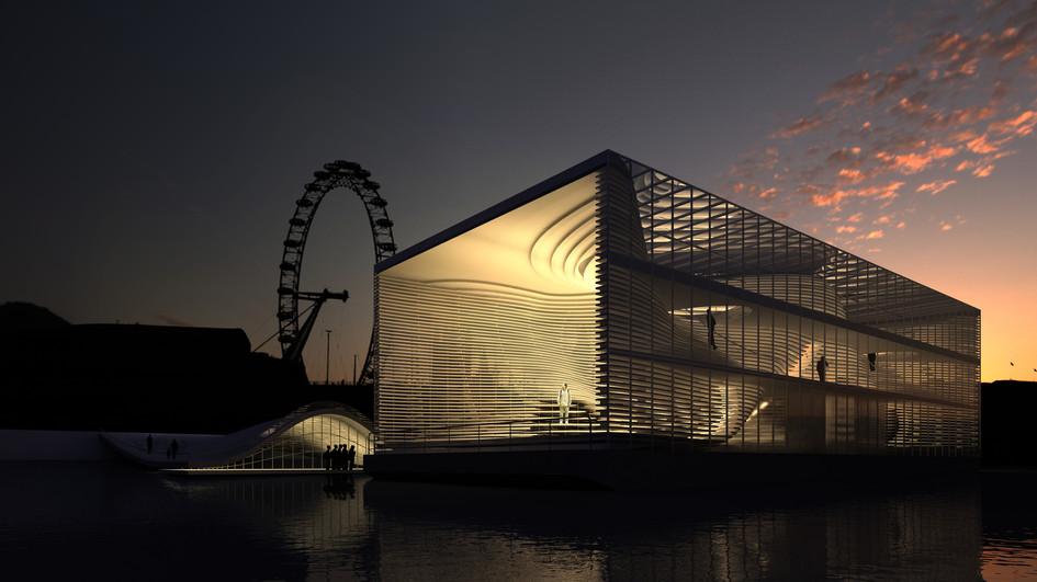 Galeria Flutuante no Rio Tâmisa