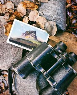 A vintage postcard of Castle Mountain ma