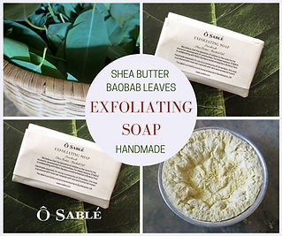 Exfoliating soap baobab leaves
