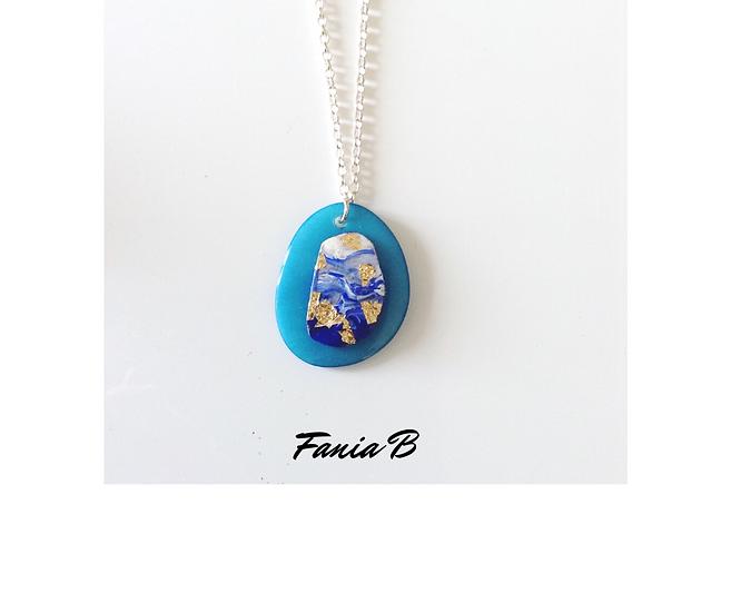 Canvas pendant - Azulea No.2