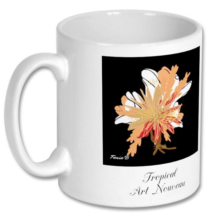 Tropical Art Nouveau mug