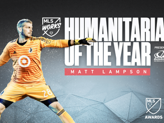 Lampson again wins the MLS WORKS MLS Humanitarian of the Year presented by Advocare