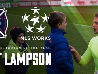 Matt Lampson named 2016 MLS Humanitarian of the Year