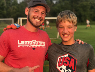 LampStrong Hero Gus attends Camp Shutout