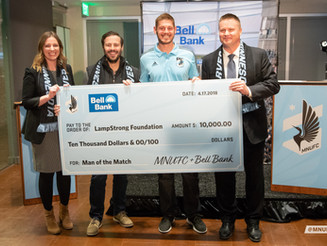 Bell Bank Donates $10,000 to the LampStrong Foundation
