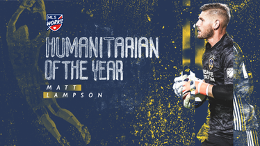 Matt Lampson named MLS Works Humanitarian of the Year for the third time