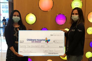 $25,000 Donated to LA Children's Hospital AYA Program