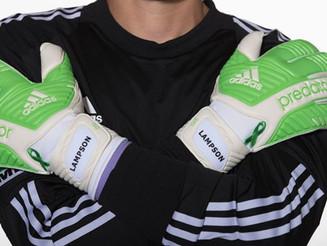 Custom-made Lymphoma Awareness Gloves