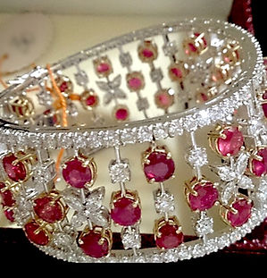 Ruby Diamond Cuff