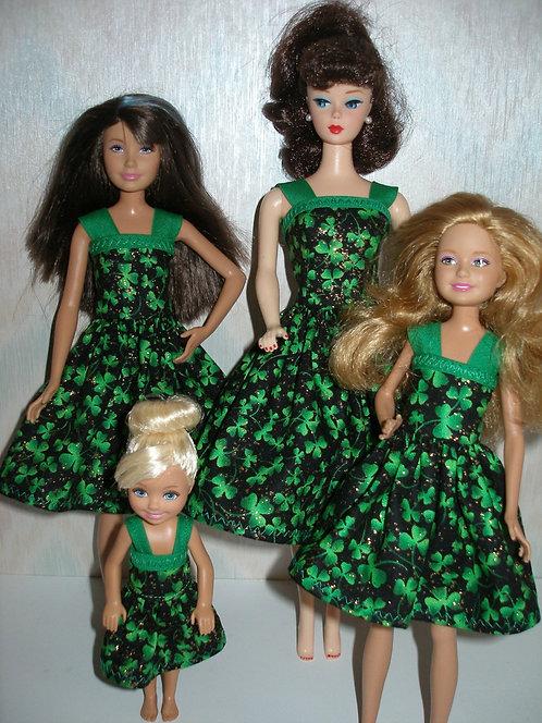 Black and Green Shamrock Sister Set