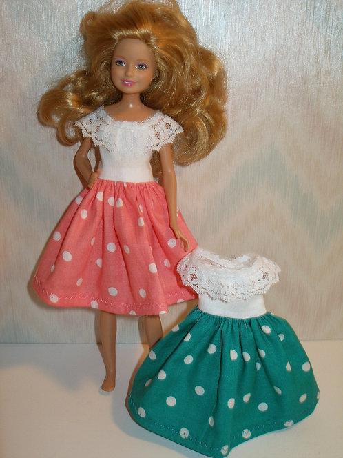 Stacie/Bratz Polka Dot Dress w/Lace