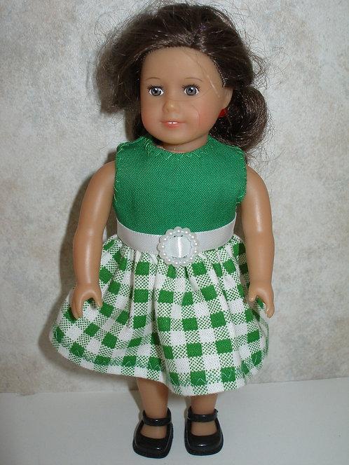 AG Mini - Green Plaid Dress