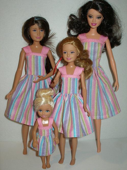 Pink Stripe Sister Set