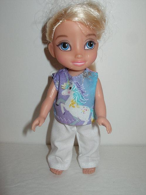 "6"" Princess - Sleeveless Pant Set"