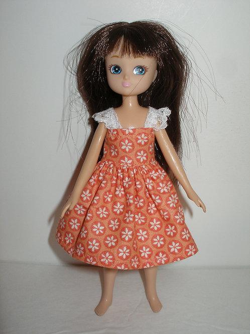 Lottie - Orange and White Floral Dress