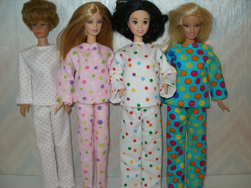 Dotted Flannel Pajamas - More options