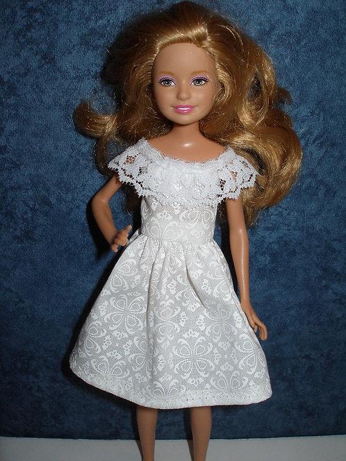 Stacie/Bratz White Dress w/Lace