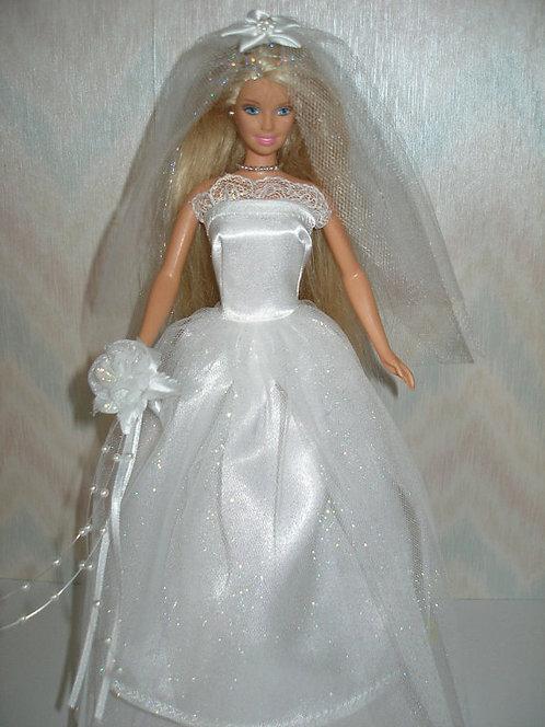 Glitter Tulle Wedding Gown