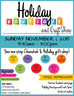 Come out to the Holiday Boutique and Craft Show on November 1st !