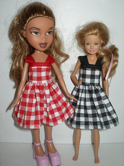 Stacie/Bratz Plaid Dress w/straps - More Colors