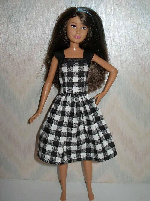 Skipper Black Check Dress