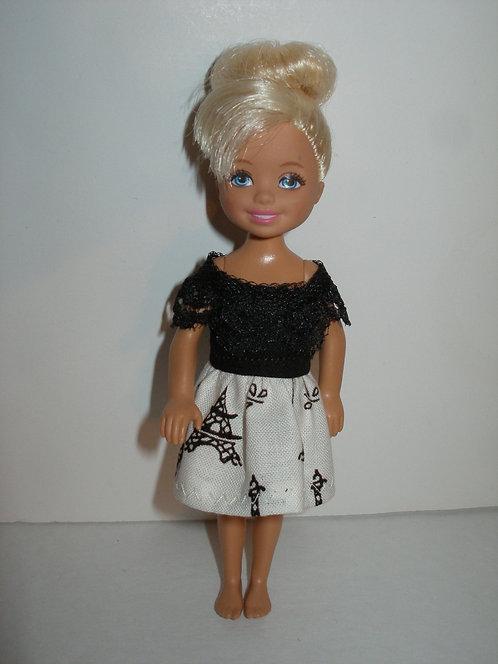 Chelsea Cream & Black Eiffel Tower Dress