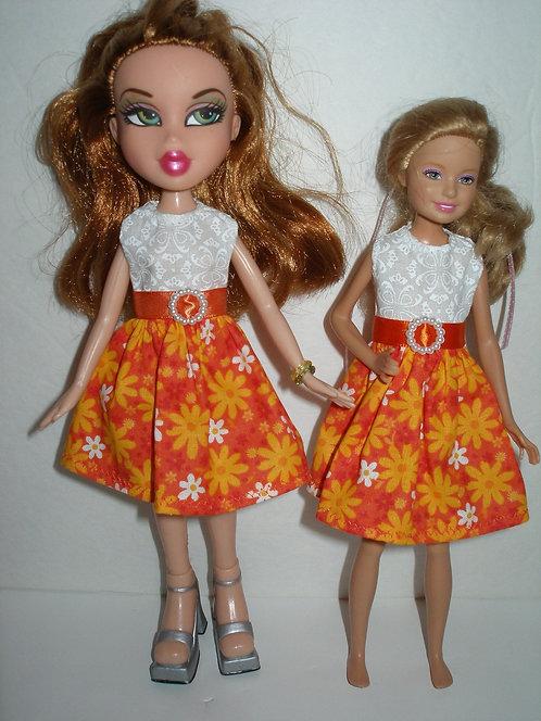 Stacie/Bratz Orange Floral Dress