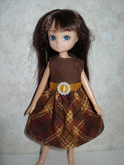 Lottie - Brown Plaid Dress