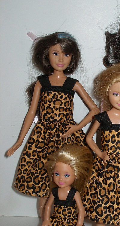 Skipper Brown/Black Animal Print Dress w/straps