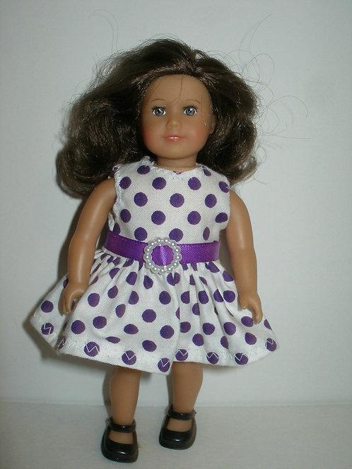 AG Mini - White and Purple Dot Dress