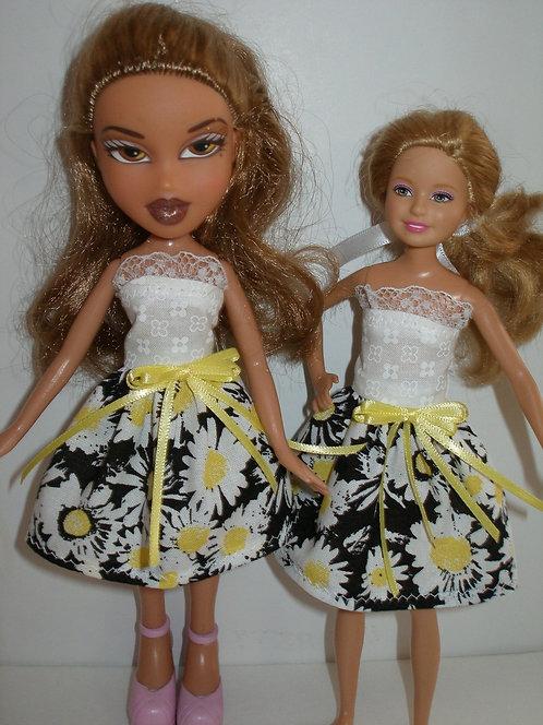 Stacie/Bratz Black, Yellow and White Floral Dress