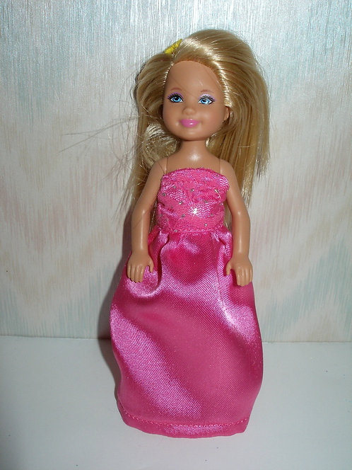 Chelsea Hot Pink Satin Gown