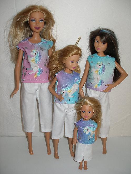Unicorn Capris Outfits - Sister Set