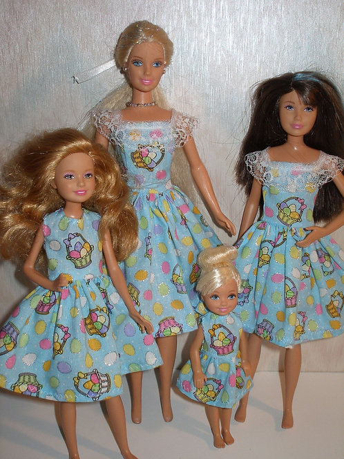 Glittery Blue Easter Baskets Sister Set